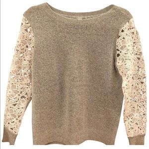 Halogen lace gray sweater